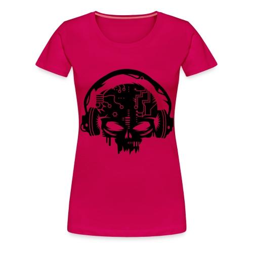 Skull Headphones - Women's Premium T-Shirt