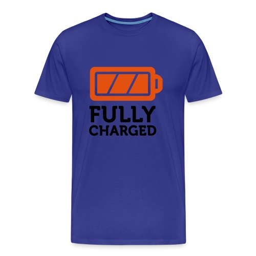 fully charged - Mannen Premium T-shirt