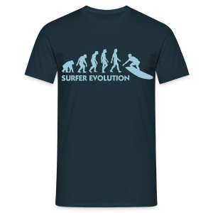 Navy Evolution of Surfing 3 (1c) Men's T-Shirts - Men's T-Shirt