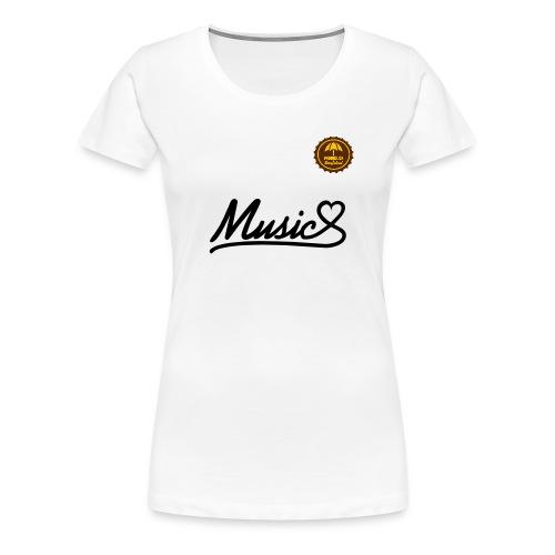 Music Heart - Frauen Premium T-Shirt