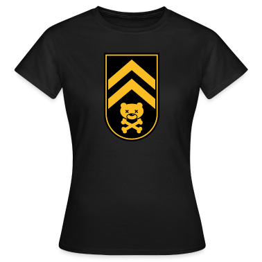 Dead bear sleeve army stripes rank badge emblem vignet with skull and crossed bones t-shirts T-Shirts