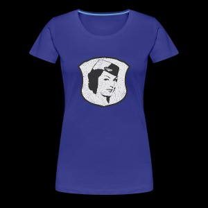 Flight Attendant Stewardess (oldstyle) - Premium-T-shirt dam
