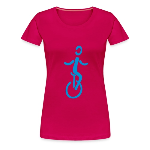 Einrad Shirt - Frauen Premium T-Shirt