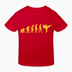Red Evolution of Taekwondo (1c) Kids' Shirts