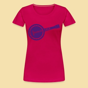 XL Girlshirt: Banjolele (motiv: lila) - Frauen Premium T-Shirt