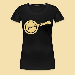 XL Girlshirt: Banjolele (motiv: beige) - Frauen Premium T-Shirt