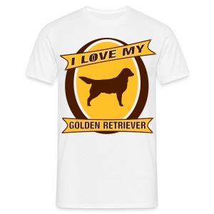 I Love my Golden Retriever - Männer T-Shirt