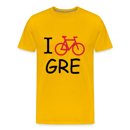 T-SHIRT HOMME BICYCLE IN GRENOBLE- JAUNE - T-shirt Premium Homme