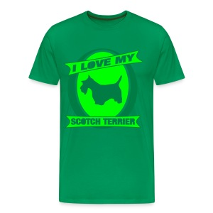 I Love my Scotch Terrier - Männer Premium T-Shirt