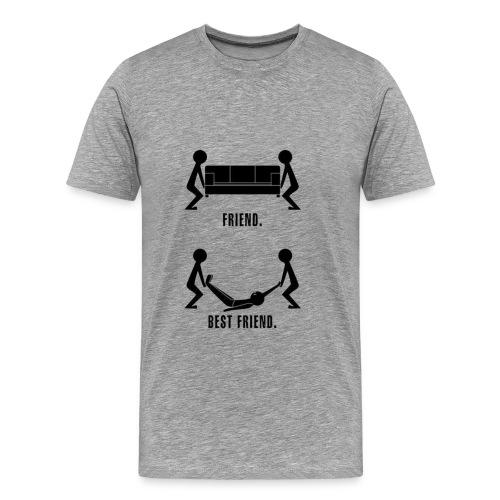 Friends Vs. Real Friends - Men's Premium T-Shirt