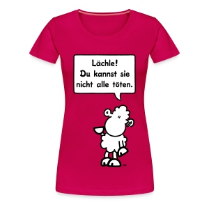 sheepworld T-Shirt Girls - Motiv: Lächle!... - Frauen Premium T-Shirt