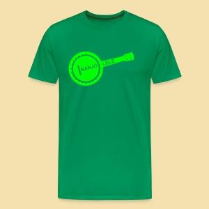 XL Menshirt: Banjolele (Motiv: neongrün) - Männer Premium T-Shirt