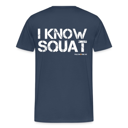 Paleo Nordic + i know squat - herr - Premium-T-shirt herr
