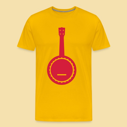 Menshirt: Banjolele (Motiv: rot) - Männer Premium T-Shirt