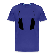 T-shirts ~ Mannen Premium T-shirt ~ Men Basic Shirt: Jeff Residenza - Headphone