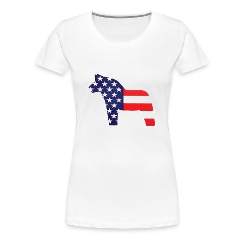 Swedish Amerikansk Dalahäst - Women's Premium T-Shirt