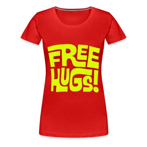 Vrouwenshirt free hugs - Vrouwen Premium T-shirt