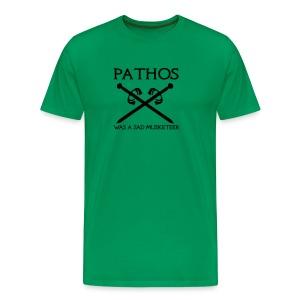 Pathos was a sad musketeer - Men's Premium T-Shirt