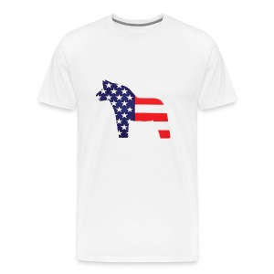 Swedish Amerikansk Dalahäst - Men's Premium T-Shirt