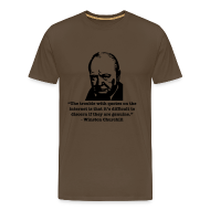T-Shirts ~ Men's Premium T-Shirt ~ Winston's internet quote