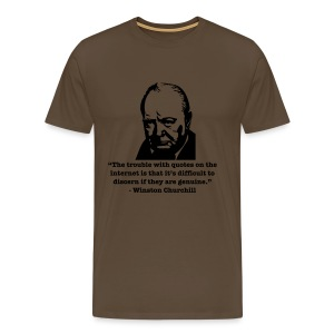 Winston's internet quote - Men's Premium T-Shirt