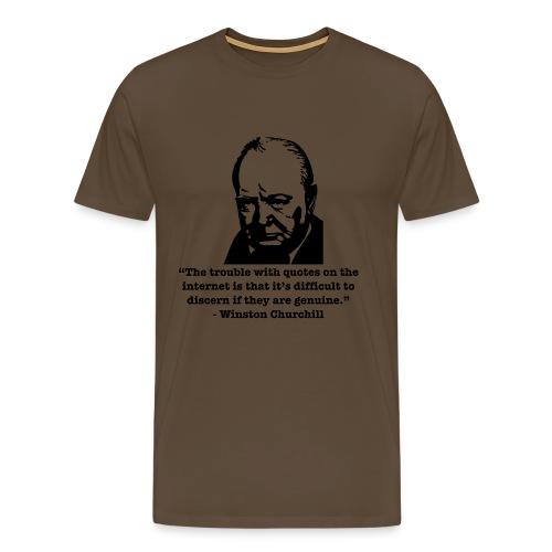 Winston's internet quote - Men's Premium T-Shirt