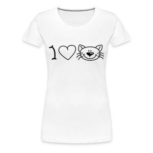 i love cats vrouw - Vrouwen Premium T-shirt
