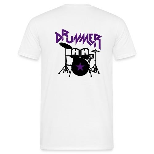 Drummer Man - Männer T-Shirt