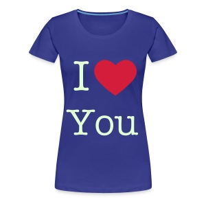 I love you (Glow in the dark) - Vrouwen Premium T-shirt