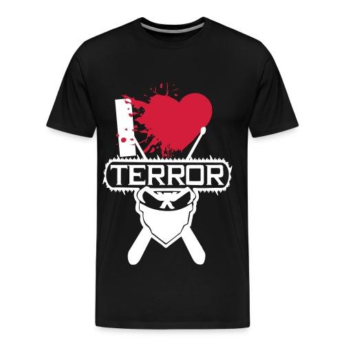 I Love Terror *Rot* - Männer Premium T-Shirt