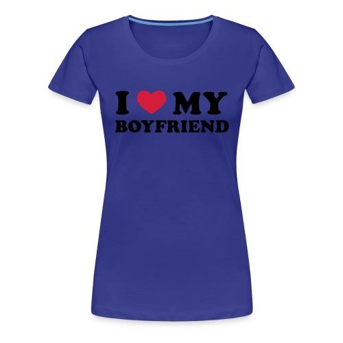 <3Boyfriend - Premium-T-shirt dam