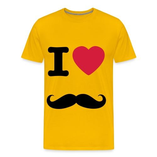 i love snor shirt - Mannen Premium T-shirt
