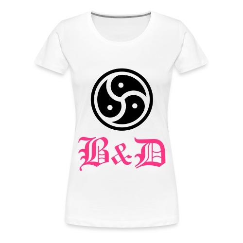 signe B et D - T-shirt Premium Femme