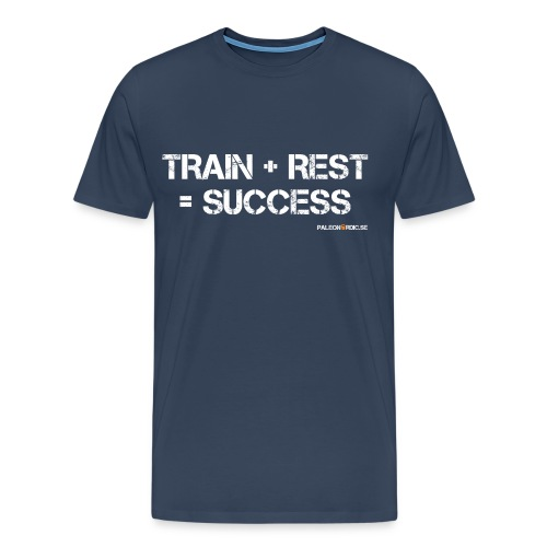 TRAIN+REST=SUCCESS HERR - Premium-T-shirt herr