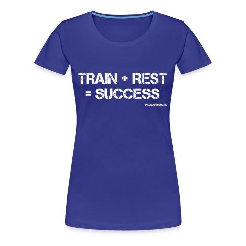 TRAIN+REST=SUCCESS DAM - Premium-T-shirt dam
