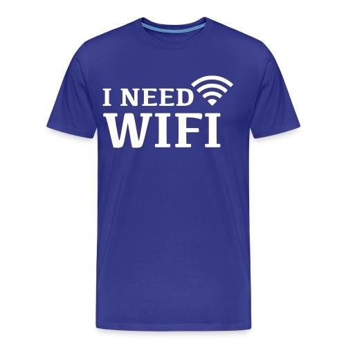 I NEED WIFI - Mannen Premium T-shirt