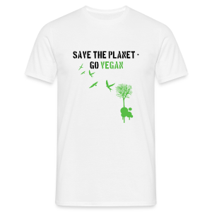 save the planet, go vegan - Männer T-Shirt