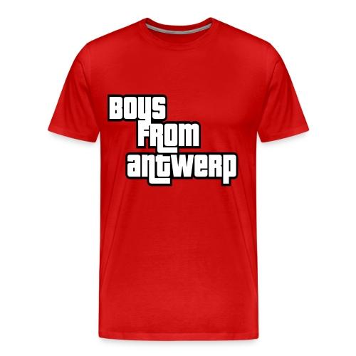 Boys from Antwerp (white text) - Mannen Premium T-shirt
