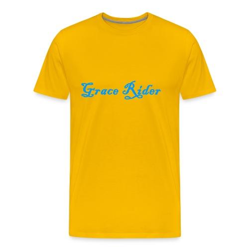GRACE RIDER T-Shirt (blau auf gelb) MEN - Männer Premium T-Shirt