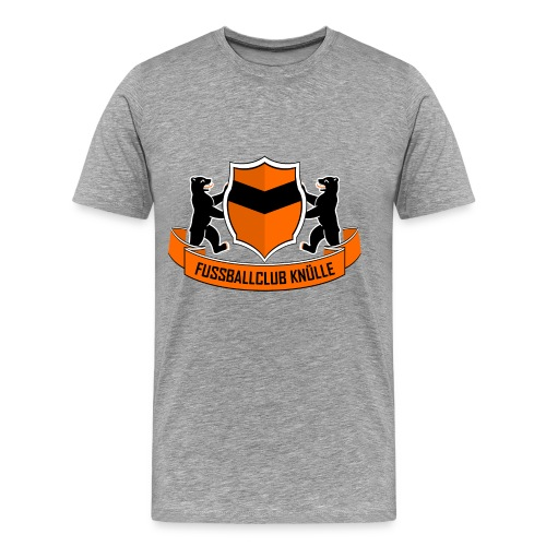 Logo-Shirt Grau - Männer Premium T-Shirt