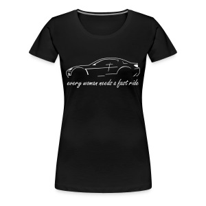 RX-8 Girl, black/white - Frauen Premium T-Shirt