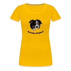 tier hunde t-shirt australian shepherd aussie hund hüte hüten border collie agility - Frauen Premium T-Shirt
