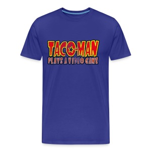 TACO-MAN PLAYS (FADED) - Men's Premium T-Shirt
