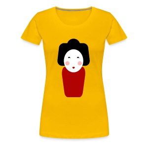 Japan Doll T-Shirt - Frauen Premium T-Shirt