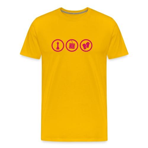 Schachboxen - Männer Premium T-Shirt