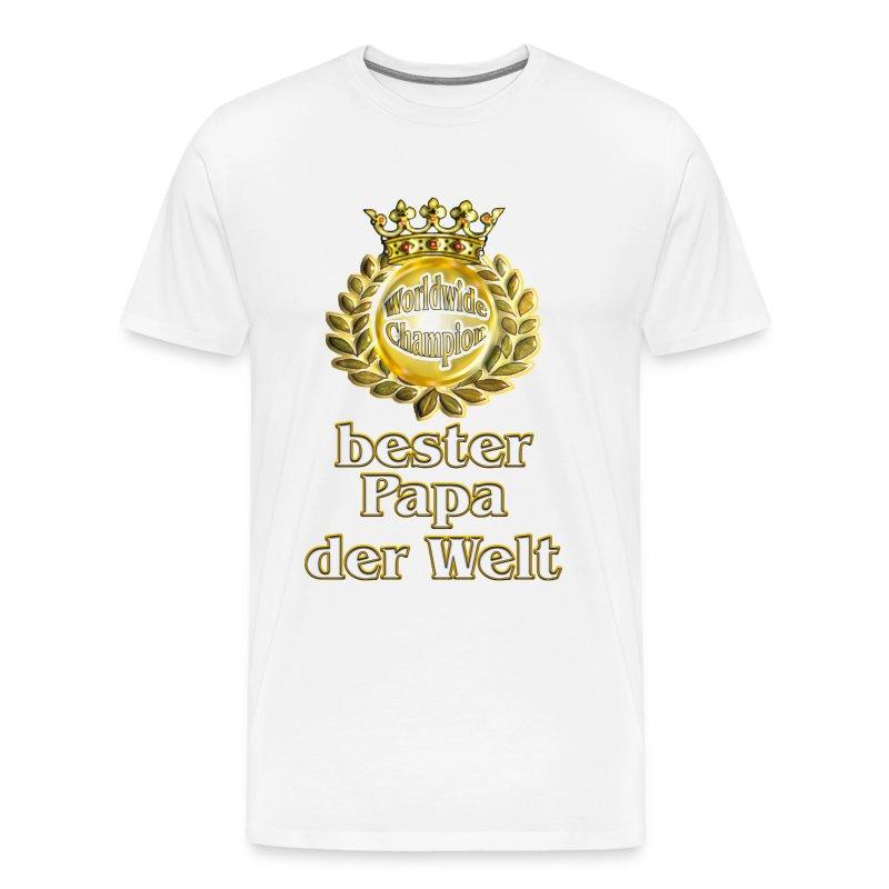 bester papa der welt goldene serie t shirt spreadshirt. Black Bedroom Furniture Sets. Home Design Ideas