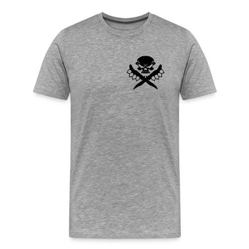 T-Shirt Kali Knife Fighter for Man in grau-meliert - Männer Premium T-Shirt