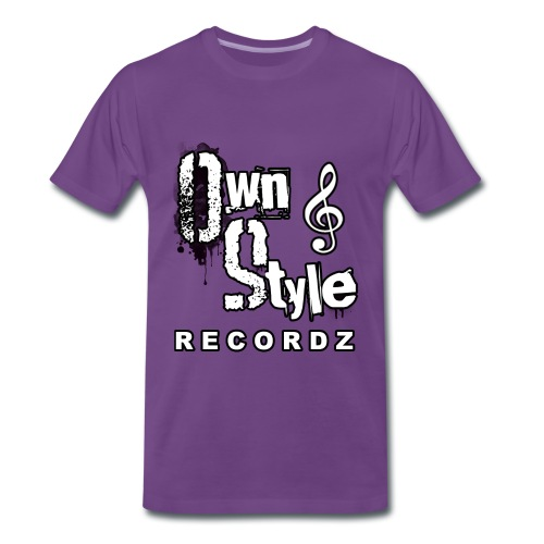 Own Style Recordz-Logo Shirt [Purple] - Männer Premium T-Shirt