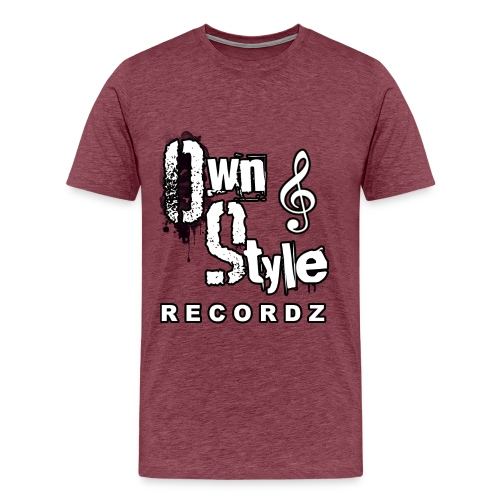 Own Style Recordz-Logo Shirt [Purple] - Männer Premium T-Shirt