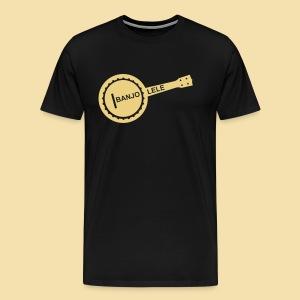 XL Menshirt: Banjolele (Motiv: beige) - Männer Premium T-Shirt